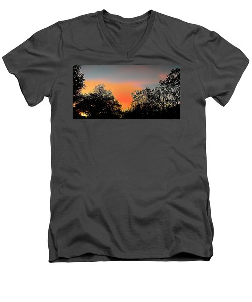 Men's V-Neck T-Shirt featuring the painting Firefly by Steve Sperry