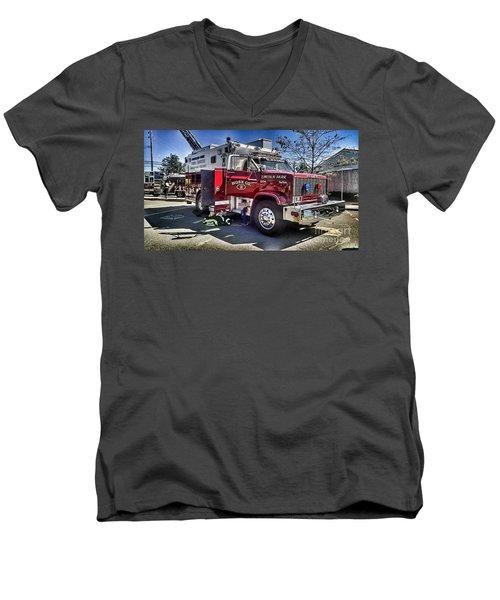 Firemen Honor And Sacrifice #1 Men's V-Neck T-Shirt
