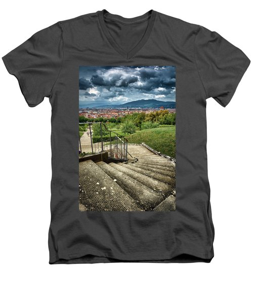 Firenze From The Boboli Gardens Men's V-Neck T-Shirt