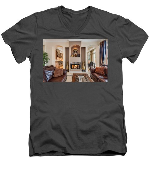 Fireplace Men's V-Neck T-Shirt