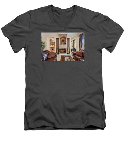 Fireplace Men's V-Neck T-Shirt