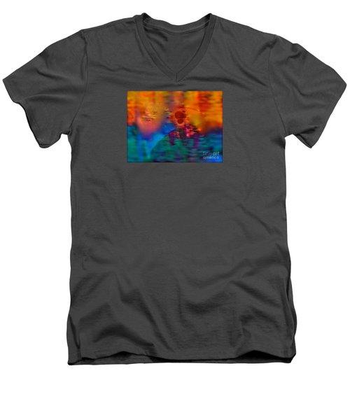 Firewall Berries Men's V-Neck T-Shirt by Patricia Schneider Mitchell