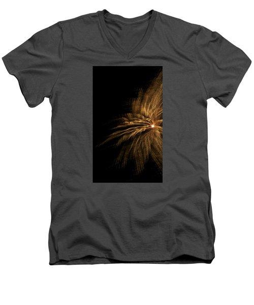 Fireworks 5 Men's V-Neck T-Shirt by Ellery Russell