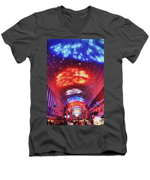 Fireworks Display In Las Vegas Men's V-Neck T-Shirt