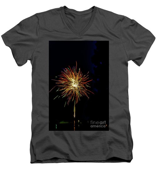 Fireworks Men's V-Neck T-Shirt by William Norton