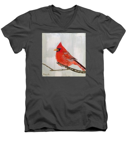 Firey Red Men's V-Neck T-Shirt