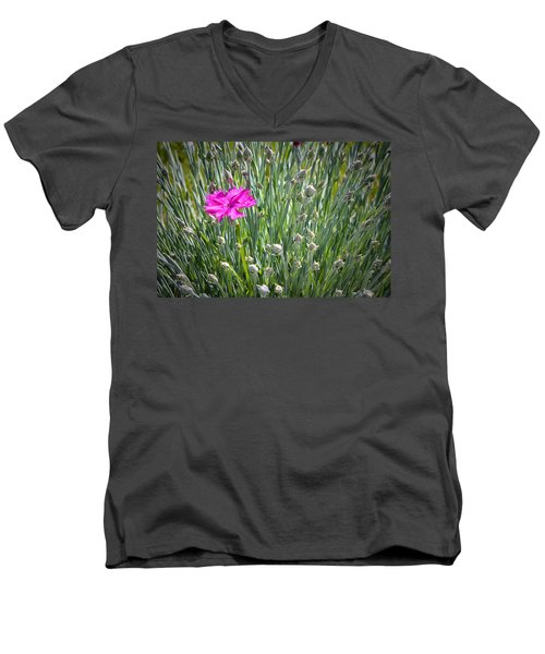 First Men's V-Neck T-Shirt