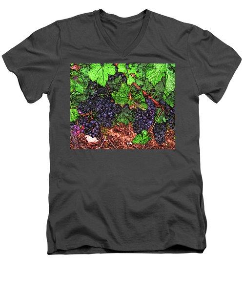 First Came The Grape Men's V-Neck T-Shirt