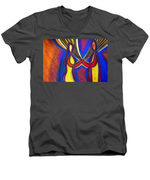 First Date Men's V-Neck T-Shirt by Vadim Levin