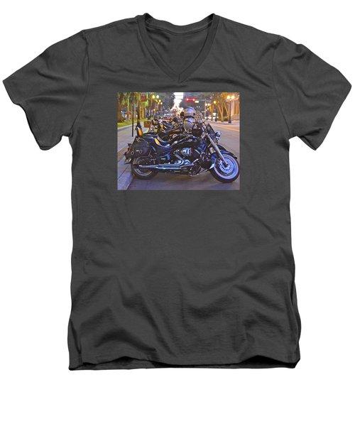 First Friday Bike Night Men's V-Neck T-Shirt
