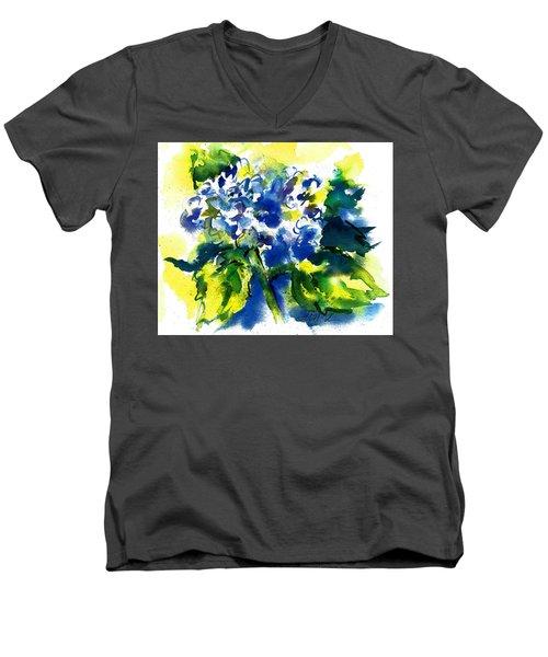 First Hydrangea Men's V-Neck T-Shirt