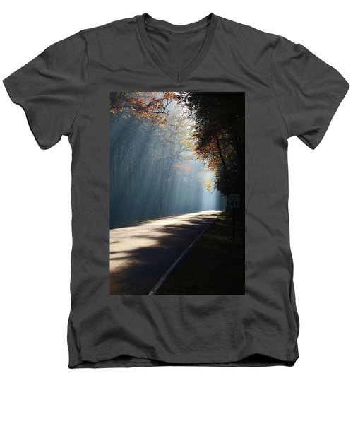First Light Men's V-Neck T-Shirt by Lamarre Labadie
