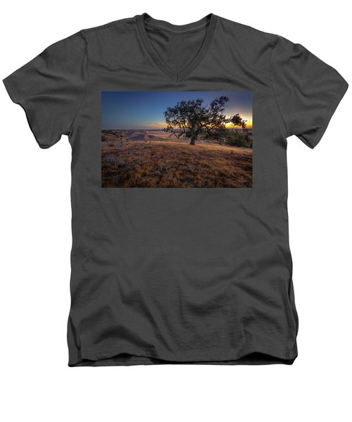 First Light On The  Canyon Ranch Men's V-Neck T-Shirt