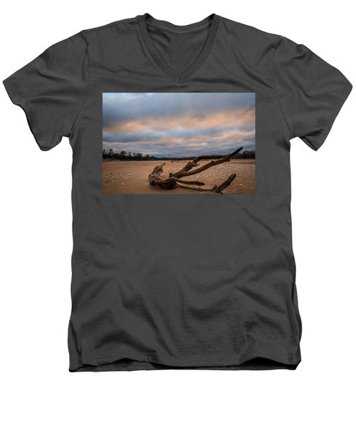 First Light On The Kaw Men's V-Neck T-Shirt