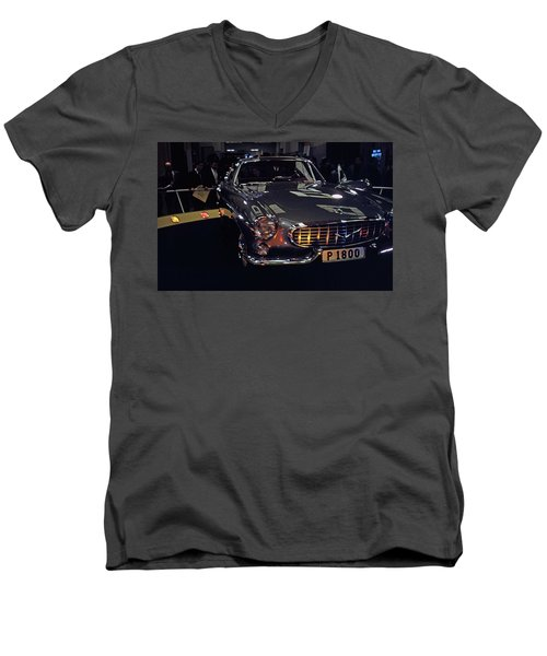 Men's V-Neck T-Shirt featuring the photograph First Look P 1800 by John Schneider