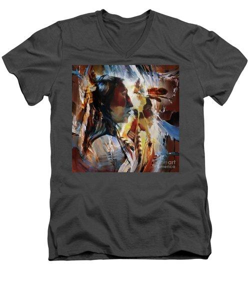 First Nation 67yu Men's V-Neck T-Shirt