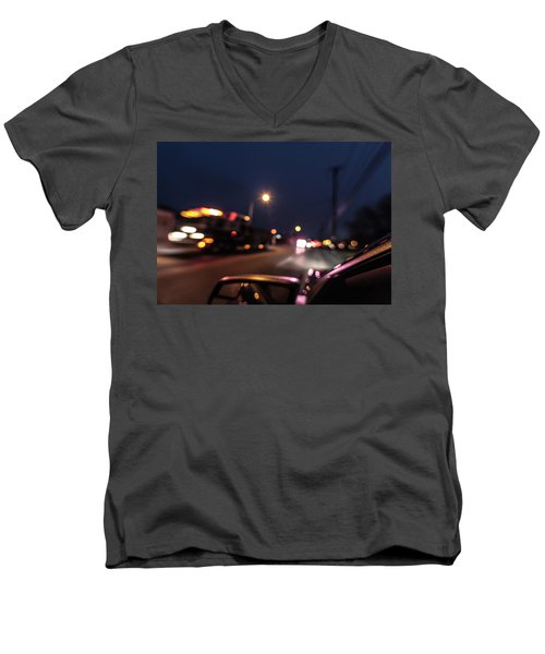 Men's V-Neck T-Shirt featuring the photograph First Responders by Randy Scherkenbach