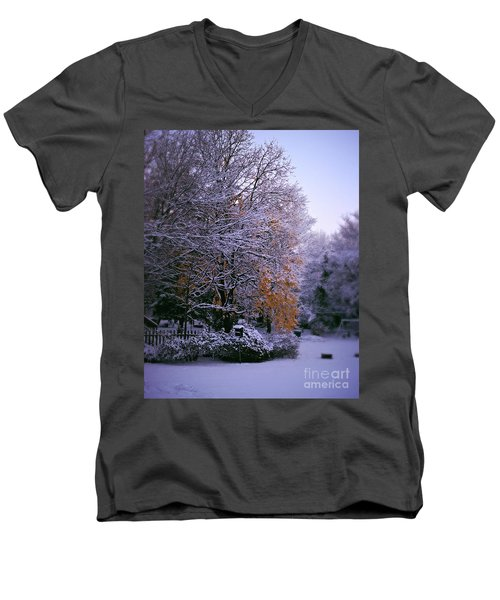 First Snow After Autumn Men's V-Neck T-Shirt
