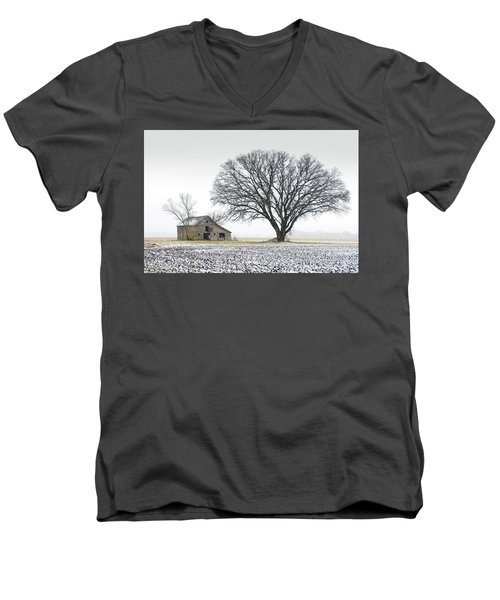 Winter's Approach Men's V-Neck T-Shirt by Christopher McKenzie