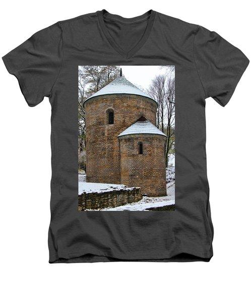 First Snow Men's V-Neck T-Shirt by Mariola Bitner