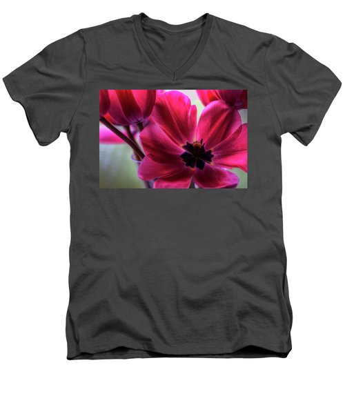 First To Wake Men's V-Neck T-Shirt