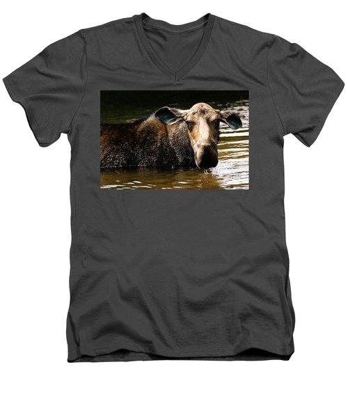 First West Branch Pond Moose Men's V-Neck T-Shirt