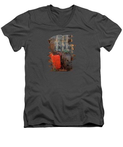 Men's V-Neck T-Shirt featuring the photograph Fish Barrels by Thom Zehrfeld