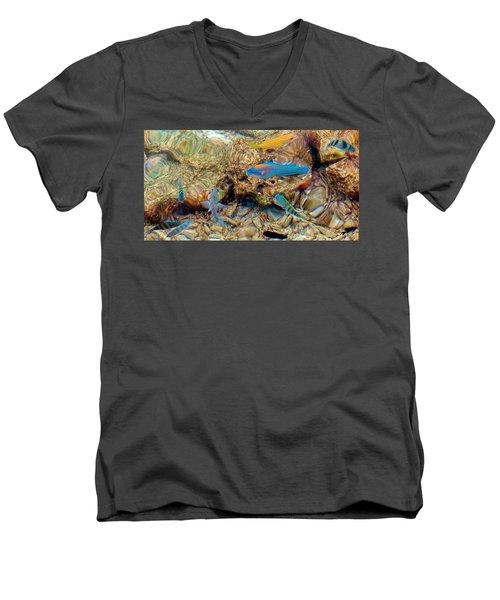 Fish Men's V-Neck T-Shirt by Betty Buller Whitehead