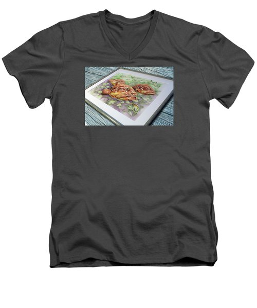 Fish Bowl 2 Men's V-Neck T-Shirt by William Love