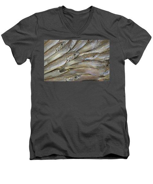 Fish Eyes Men's V-Neck T-Shirt by Joe Bonita