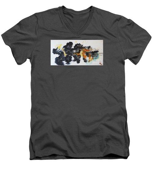 Fish In Stream 12030015fy Men's V-Neck T-Shirt