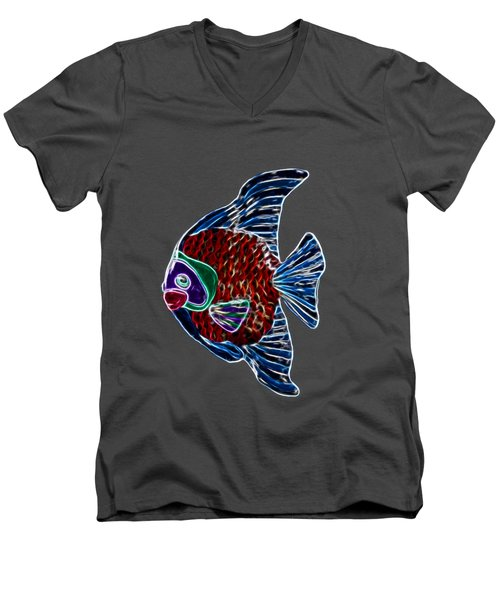 Fish In Water Men's V-Neck T-Shirt by Shane Bechler