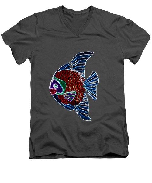 Fish In Water Men's V-Neck T-Shirt