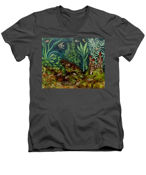 Fish Kingdom Men's V-Neck T-Shirt