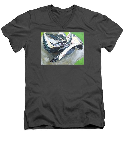Fish On A Table Men's V-Neck T-Shirt