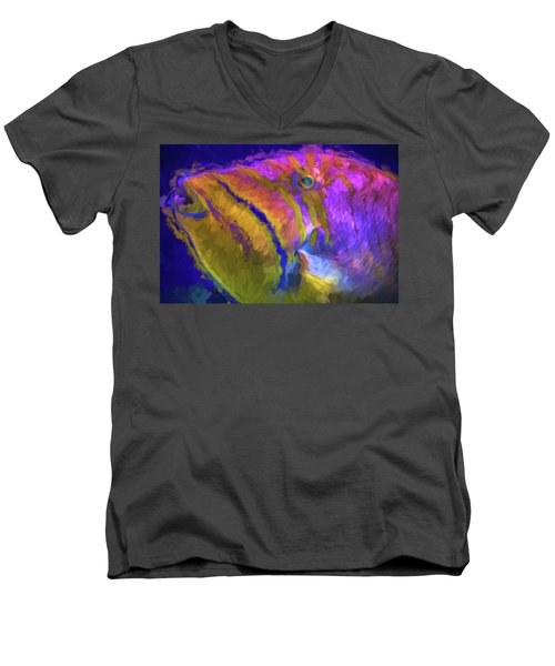 Men's V-Neck T-Shirt featuring the photograph Fish Paint Dory Nemo by David Haskett