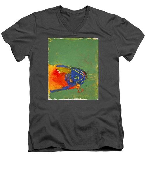 Fish Pondering The Anomaly Of Mans Anamnesis Men's V-Neck T-Shirt