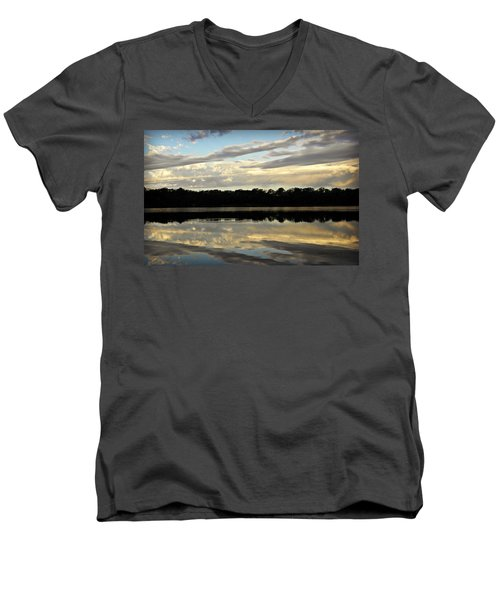 Men's V-Neck T-Shirt featuring the photograph Fish Ring by Chris Berry