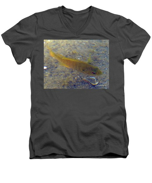 Men's V-Neck T-Shirt featuring the photograph Fish Sandy Bottom by Rockin Docks Deluxephotos