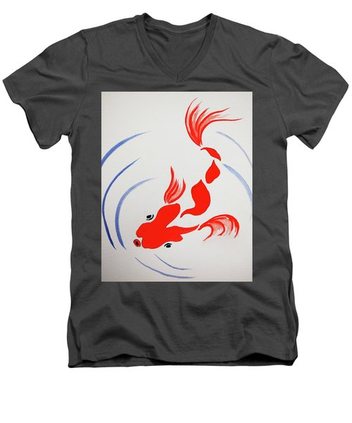 Fish Swish Men's V-Neck T-Shirt