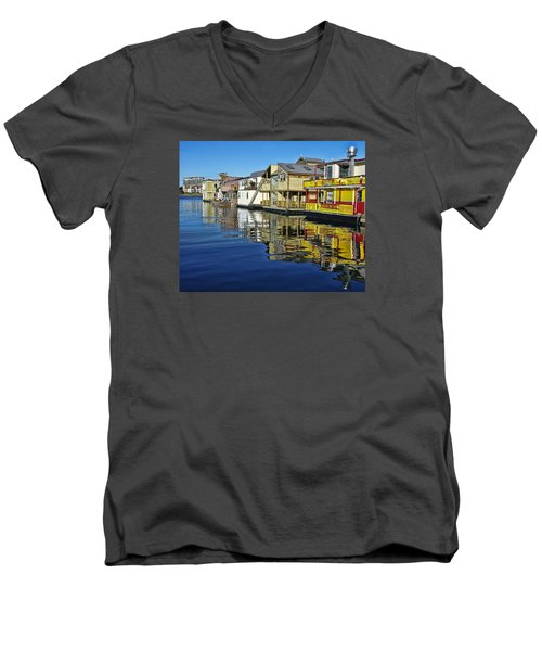 Fisherman's Wharf Men's V-Neck T-Shirt by Marilyn Wilson