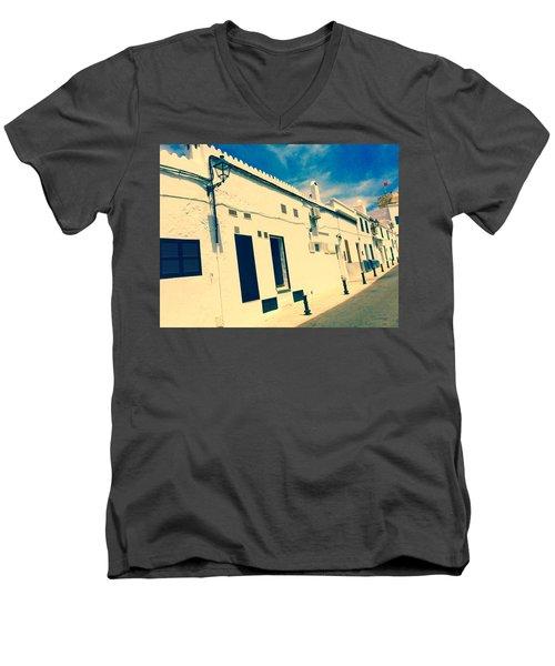 Fishermens' Cottages In Cuitadella Men's V-Neck T-Shirt