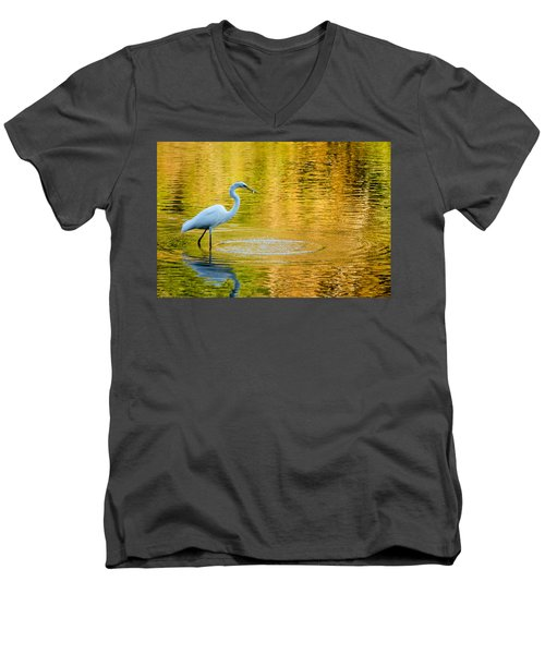 Men's V-Neck T-Shirt featuring the photograph Fishing 2 by Wade Brooks