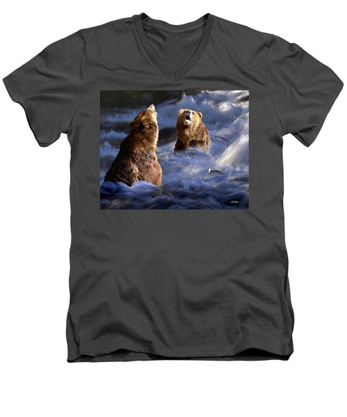 Fishing Alaska Men's V-Neck T-Shirt