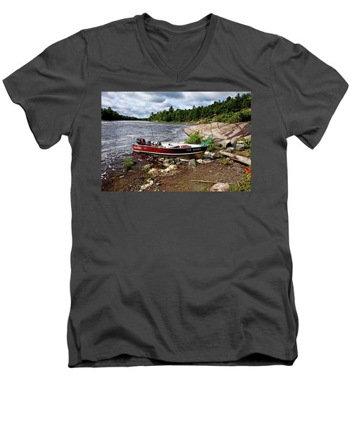 Fishing And Exploring Men's V-Neck T-Shirt
