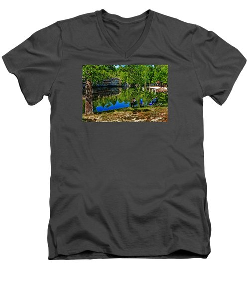 Fishing At Pickett Men's V-Neck T-Shirt
