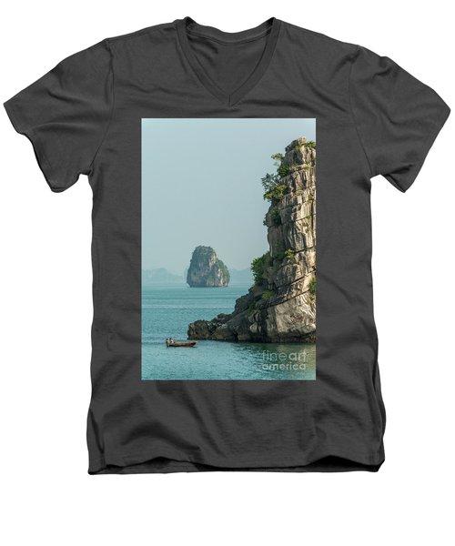 Fishing Boat 2 Men's V-Neck T-Shirt by Werner Padarin