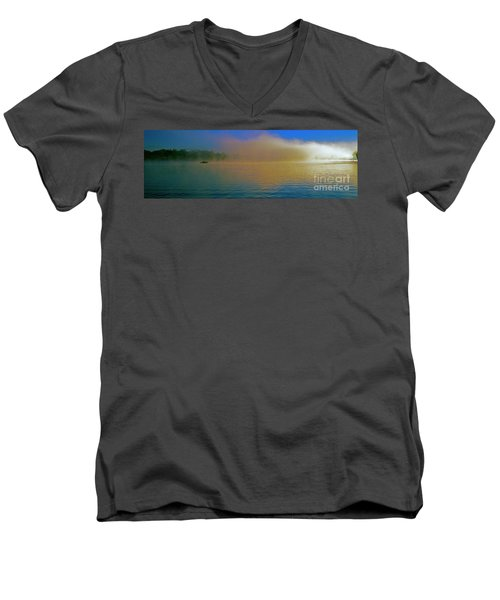 Fishing Boat Day Break  Men's V-Neck T-Shirt