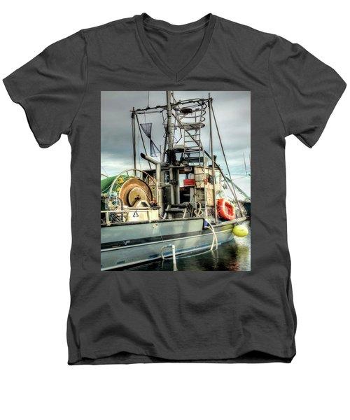 Fishing Boat Rigging Men's V-Neck T-Shirt by Greg Sigrist