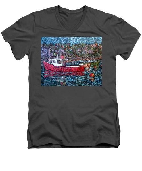 Fishing Boats - Beaver Harbour Men's V-Neck T-Shirt